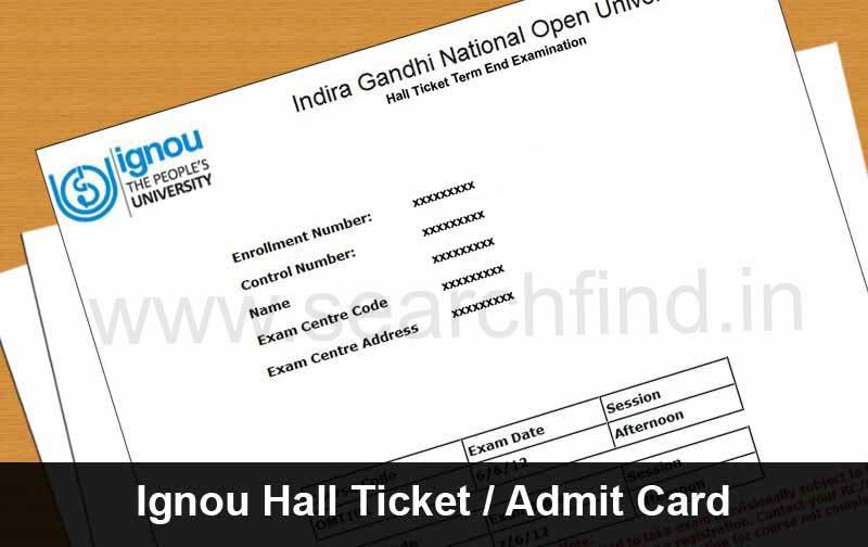 download ignou hall ticket