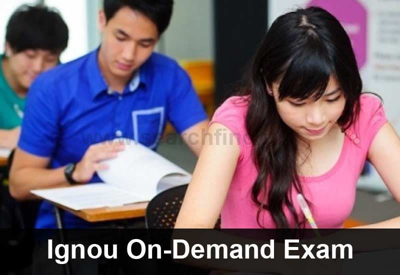Ignou On Demand Exam Form Download