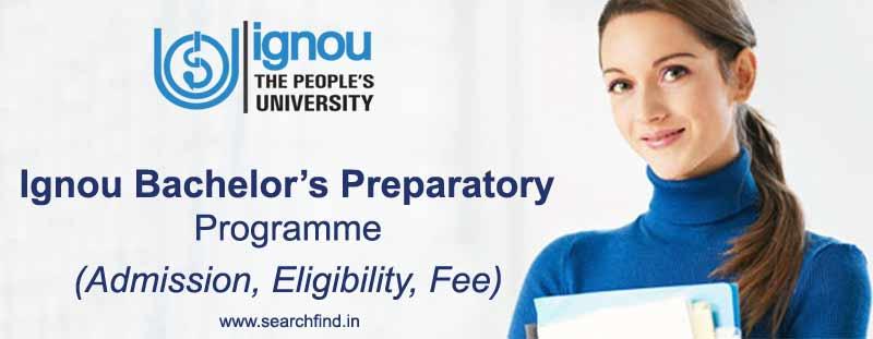ignou bpp admission eligibility, procedure