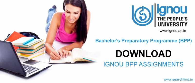 ignou bpp assignment download