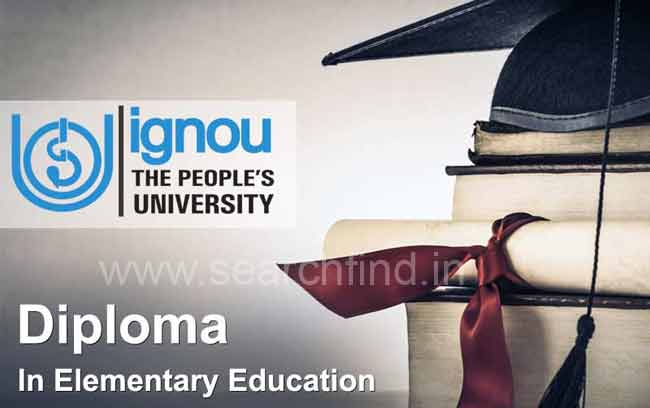ignou diploma in elementary education
