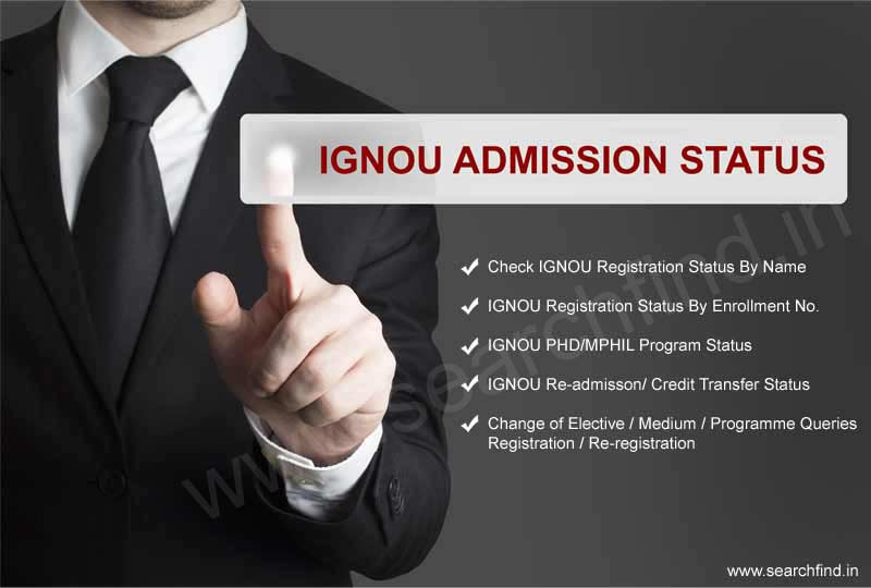 check IGNOU Admission Status, IGNOU Registration Status