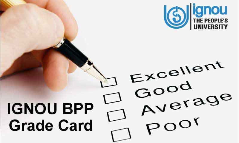 Ignou BPP Grade Card Result