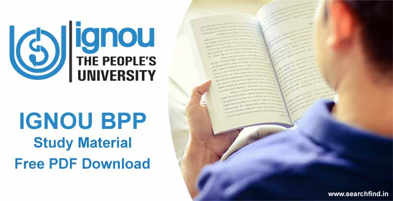 Ignou BPP Study Material free download