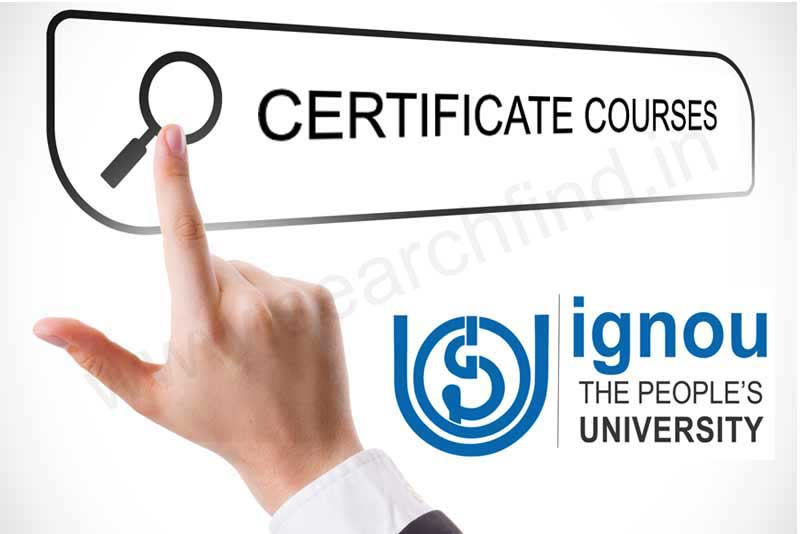Ignou Certificate Courses List