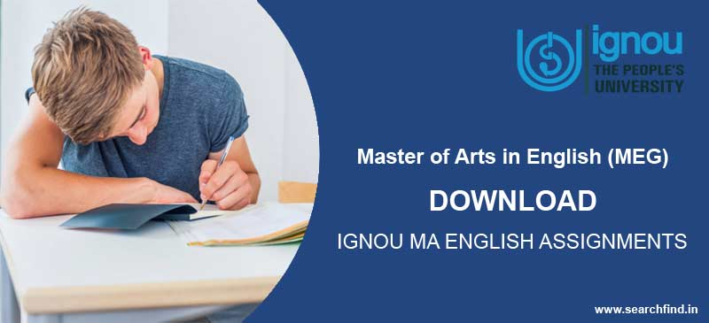 Ignou MA English Assignment Download