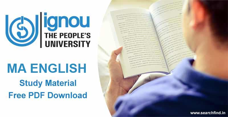 Ignou MA English Study material Free Download