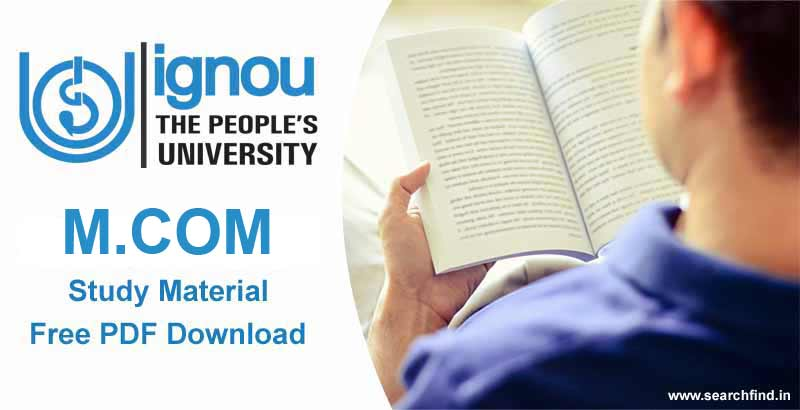 Ignou M.Com Study Material free download pdf