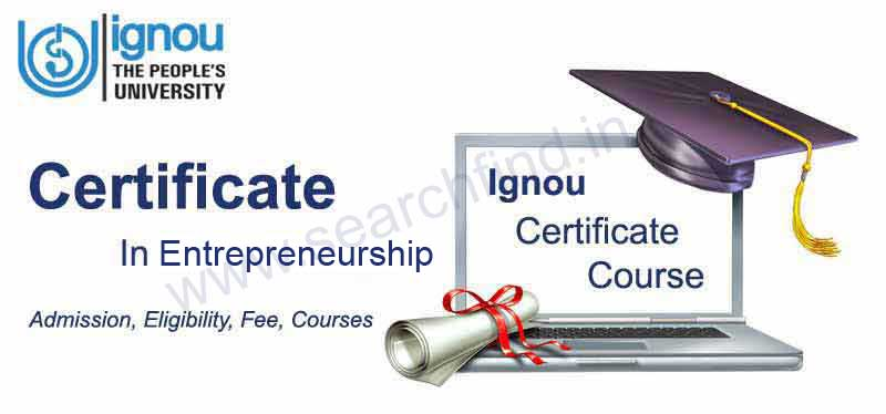 IGNOU Certificate in Entrepreneurship Admission