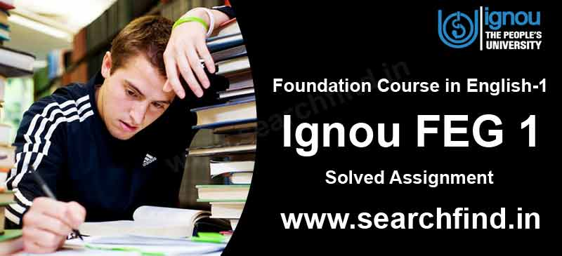 Download Ignou Feg 1 Solved Assignment