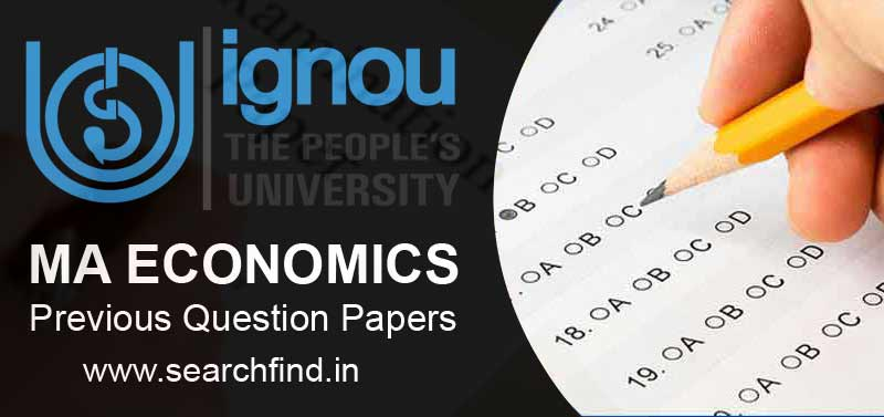 Ignou MA Economics Question Papers