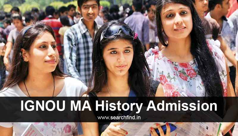 Ignou MA History Admission Fee