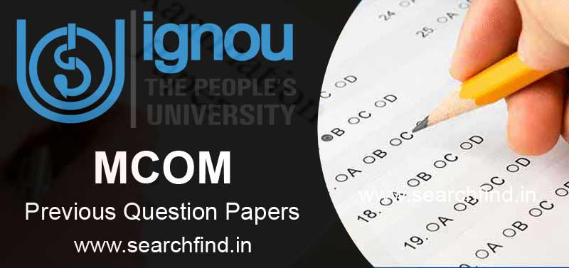 Download Ignou MCOM Question Papers