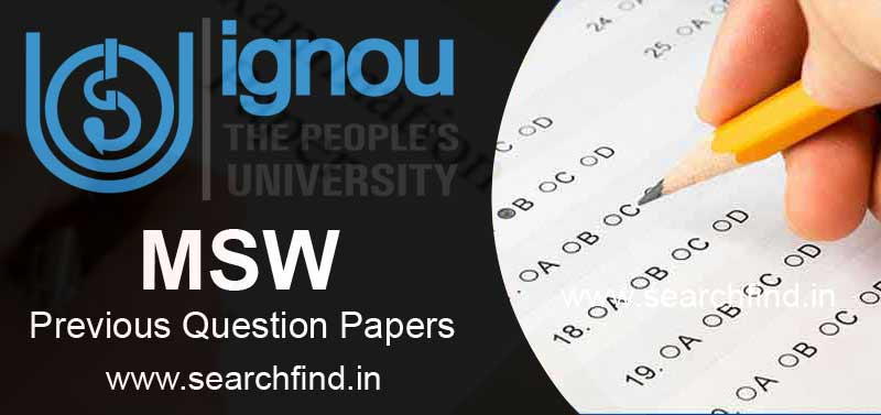 Ignou MSW Question Papers Download PDF