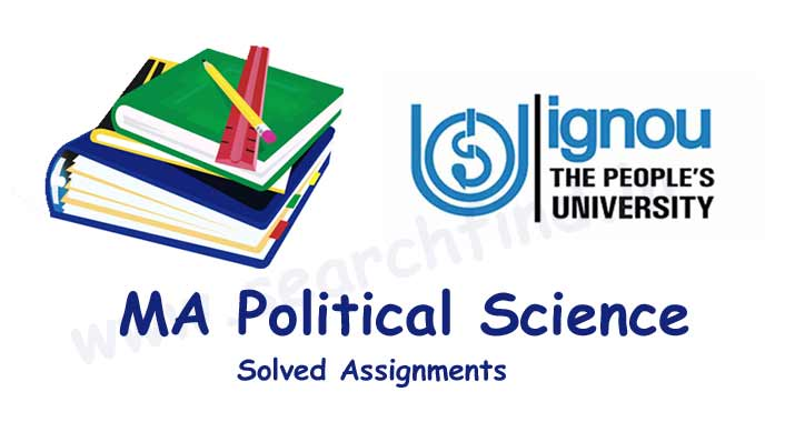 Ignou MA Political Science Solved Assignments Download