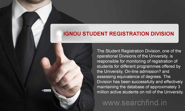 Ignou Student Registration Division
