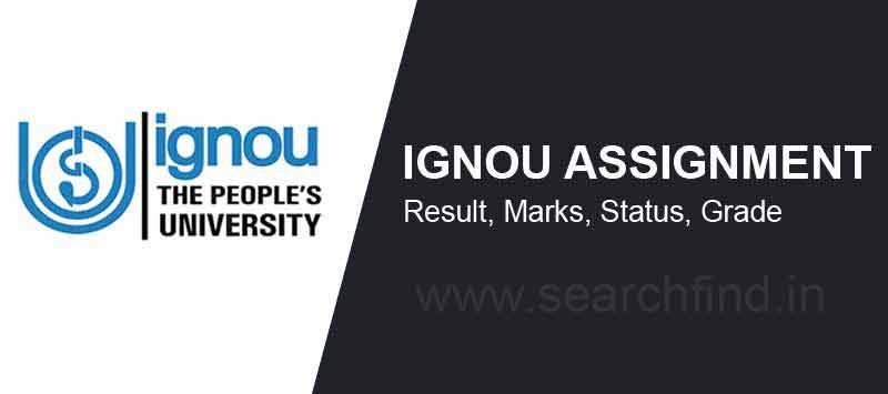 Ignou Assignment result status