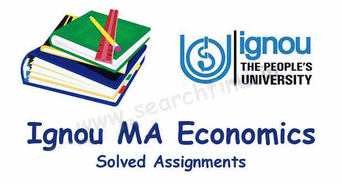 MA Economics Solved Assignments