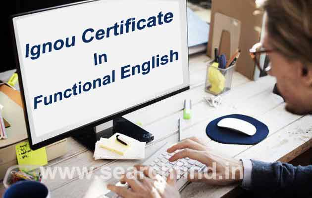 certificate in functional english ignou courses