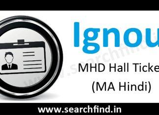 Ignou MHD hall ticket (MA Hindi)