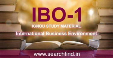 IGNOU IBO 1 Study Material