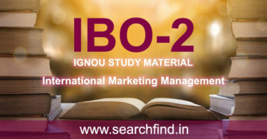IGNOU IBO 2 Study Material Free Download