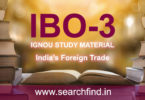 IGNOU IBO 3 Study Material & Books Free Download