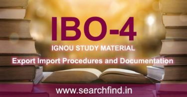 IGNOU IBO 4 Study Material & Books Free Download