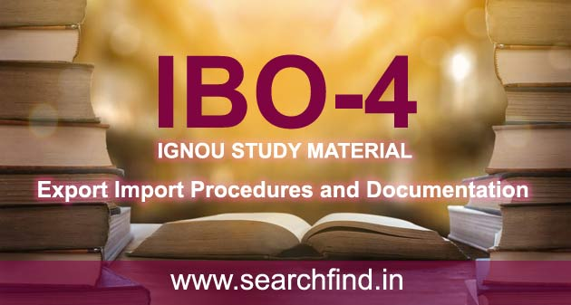 IGNOU IBO 4 Study Material & Books Free Download