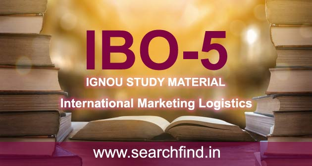 IGNOU IBO 5 Study Material