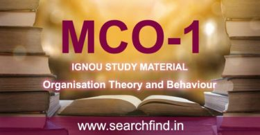 IGNOU MCO 1 Study Material & Books Free Download