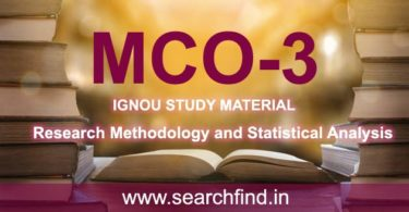 IGNOU MCO 3 Study Material & Books Free Download