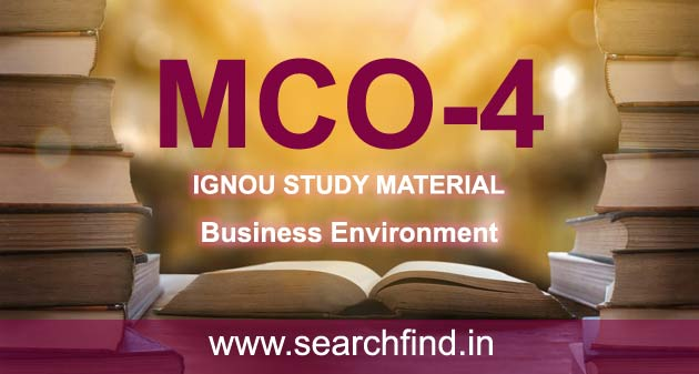 IGNOU MCO 4 Study Material & Books Free Download
