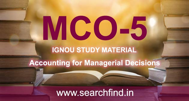 IGNOU MCO 5 Study Material & Books Free Download