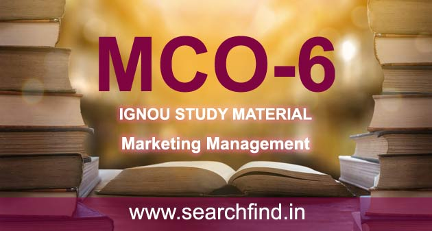 IGNOU MCO 6 Study Material & Books Free Download