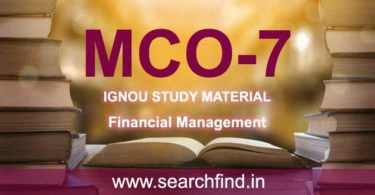 IGNOU MCO 7 Study Material & Books Free Download