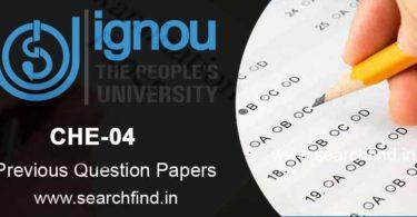 IGNOU CHE 4 Question Paper