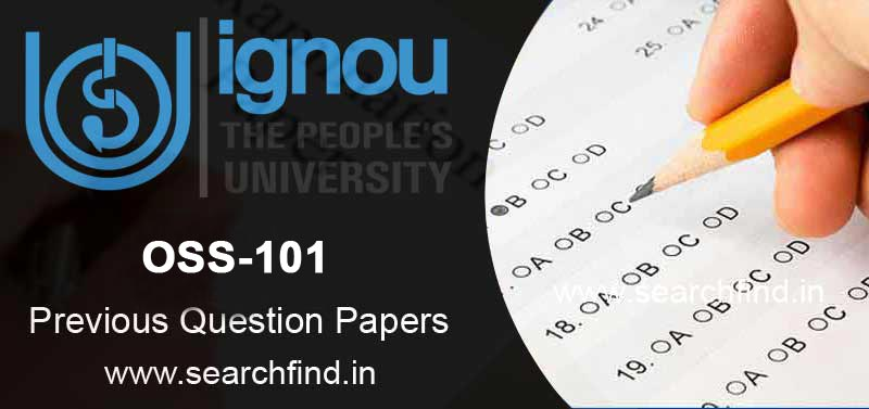 IGNOU BPP OSS 101 Question Paper