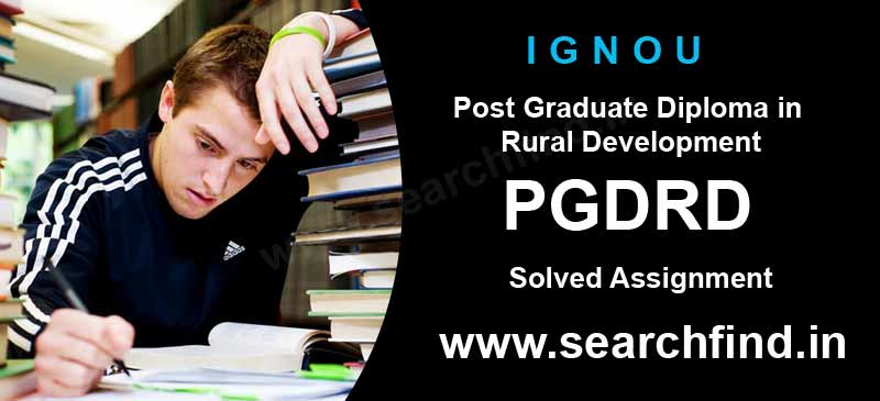 Ignou Pgdrd Solved Assignment 2019-20 - Search Find